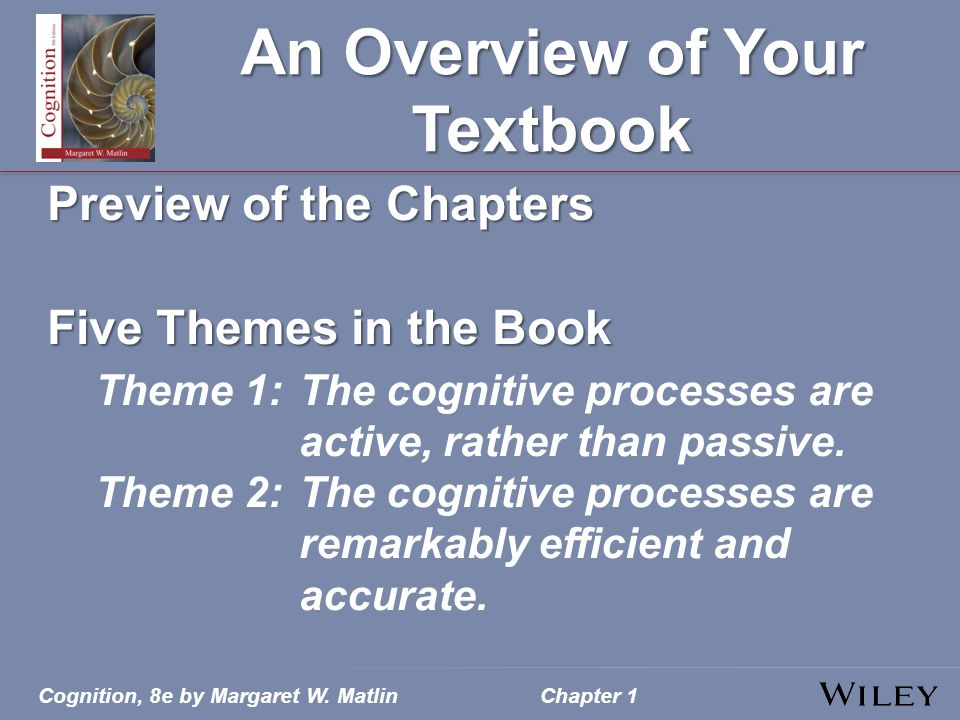 An Overview of Your Textbook