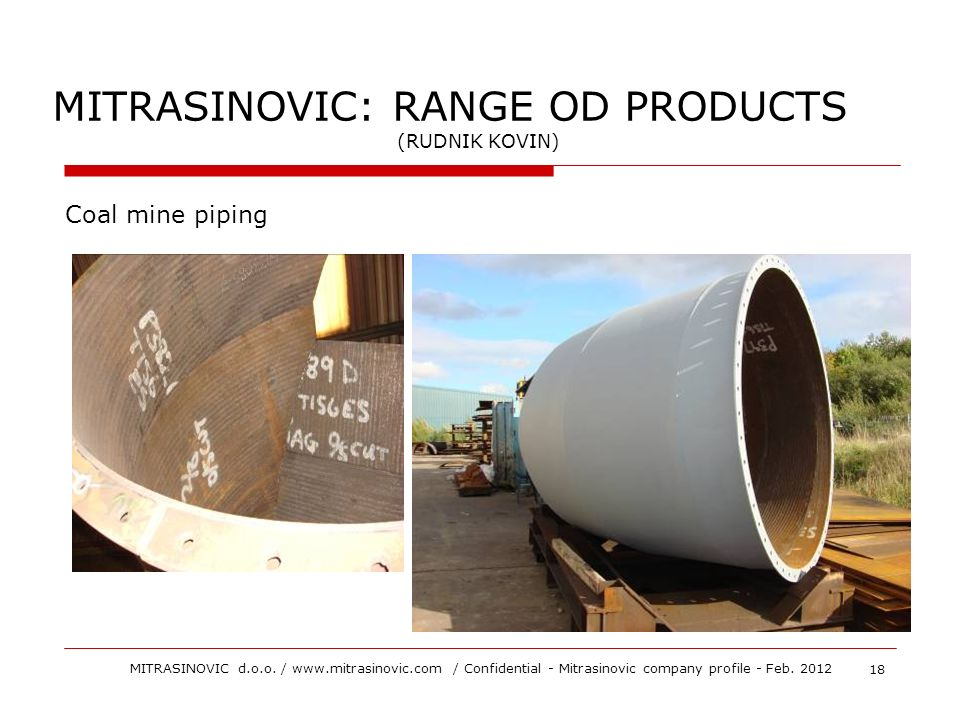 MITRASINOVIC: RANGE OD PRODUCTS