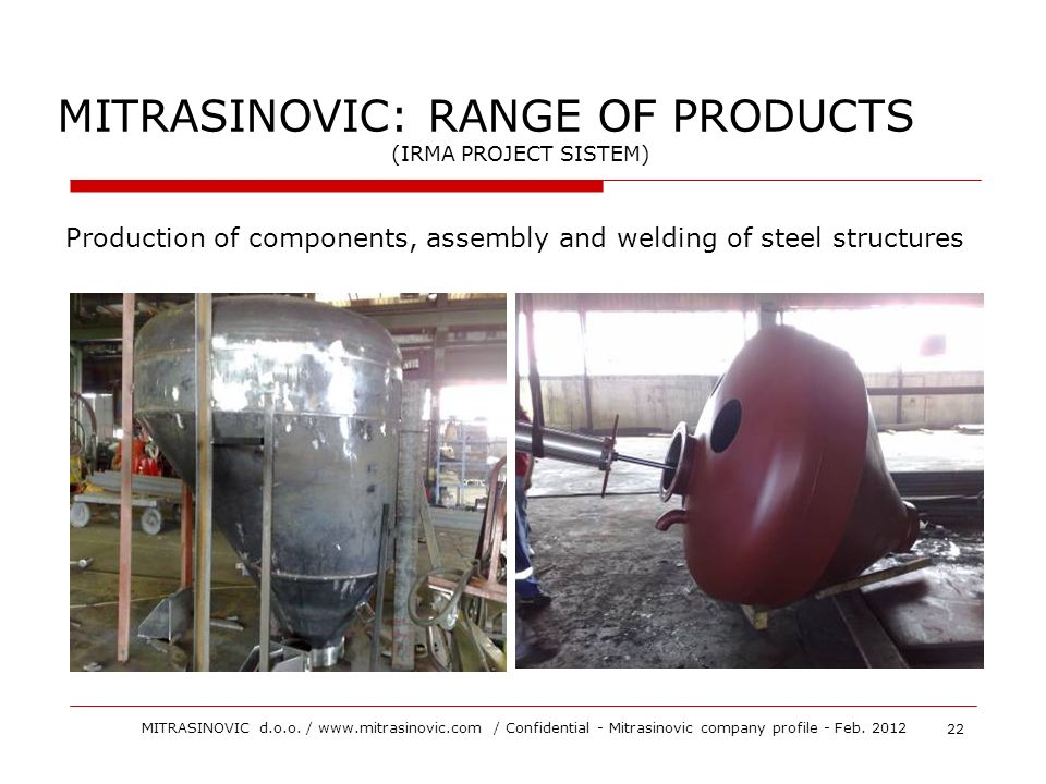 MITRASINOVIC: RANGE OF PRODUCTS
