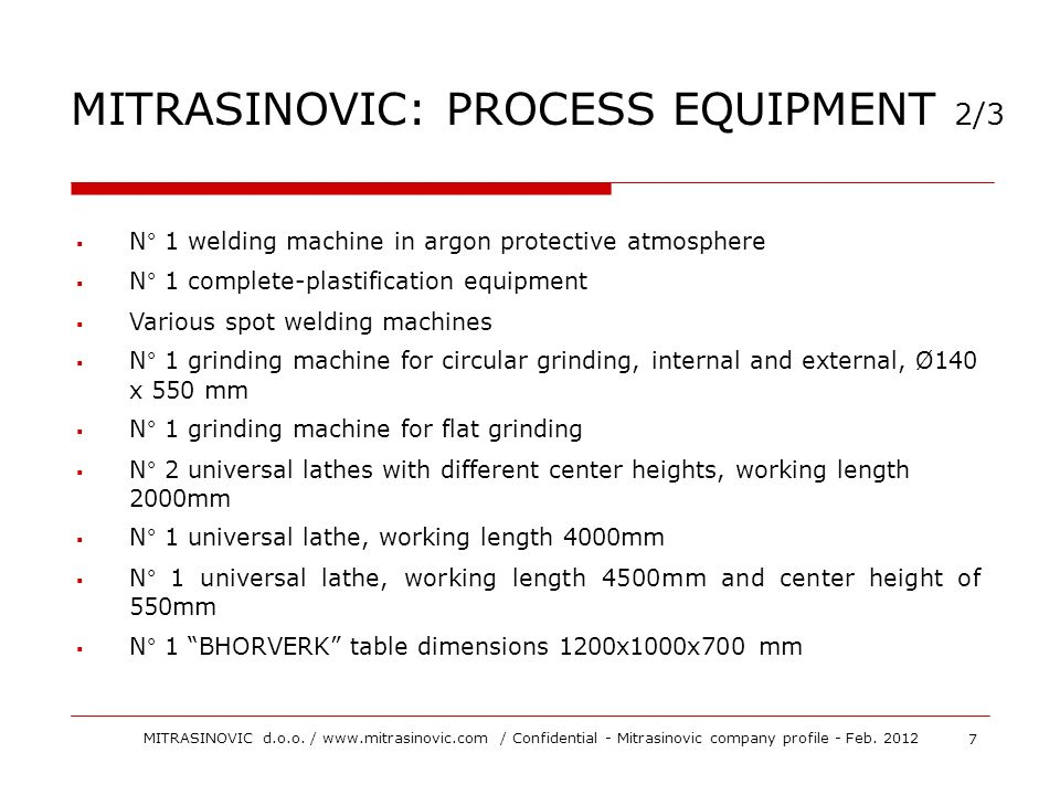 MITRASINOVIC: PROCESS EQUIPMENT 2/3