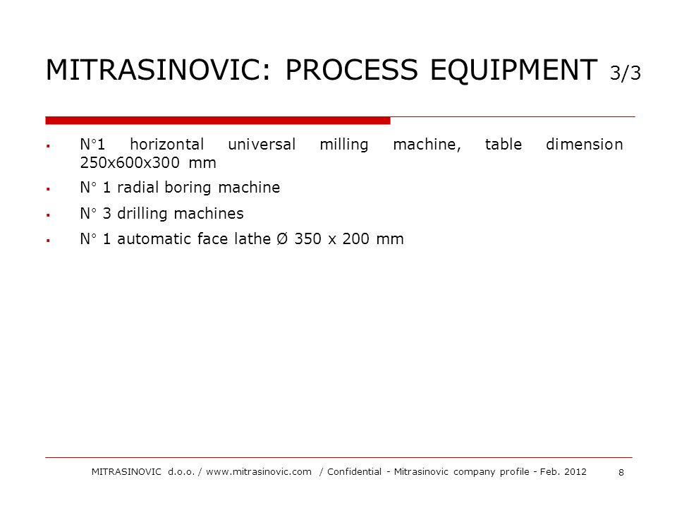 MITRASINOVIC: PROCESS EQUIPMENT 3/3