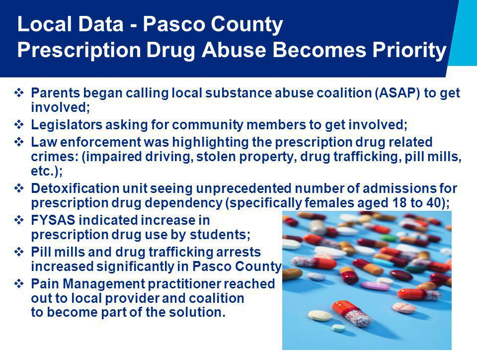 Local Data - Pasco County Prescription Drug Abuse Becomes Priority