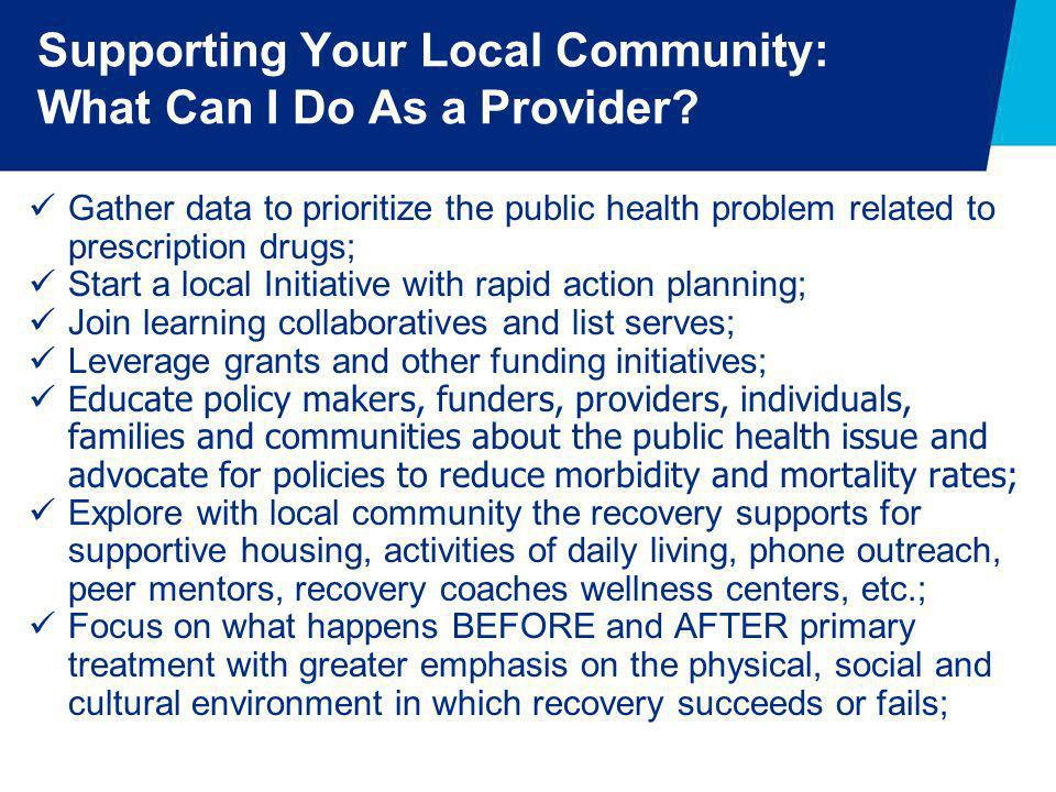 Supporting Your Local Community: What Can I Do As a Provider