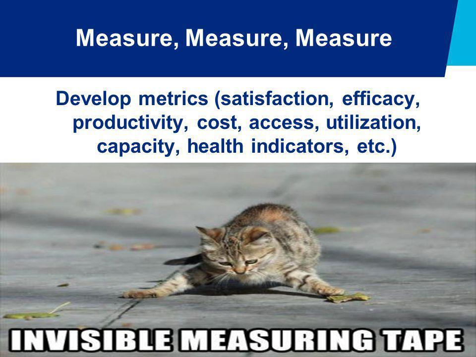 Measure, Measure, Measure