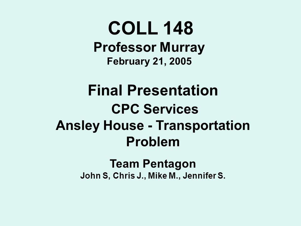 Final Presentation CPC Services Professor Murray