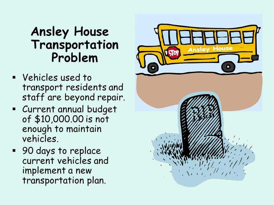 Ansley House Transportation Problem