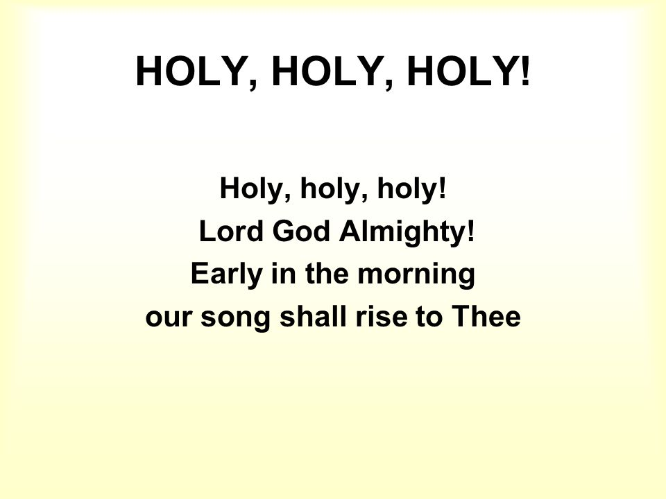 our song shall rise to Thee
