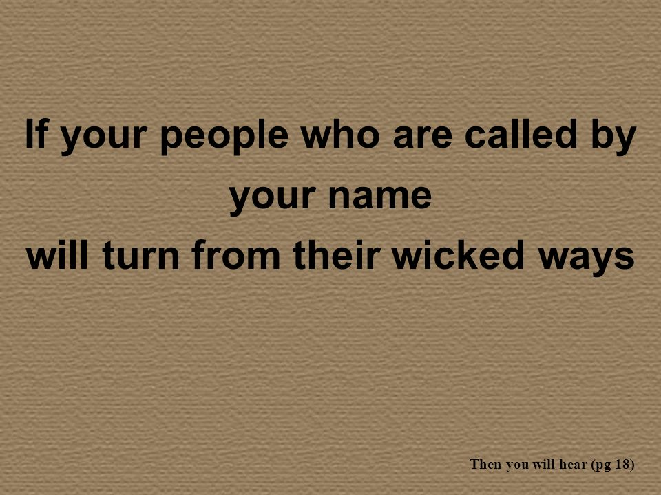If your people who are called by your name
