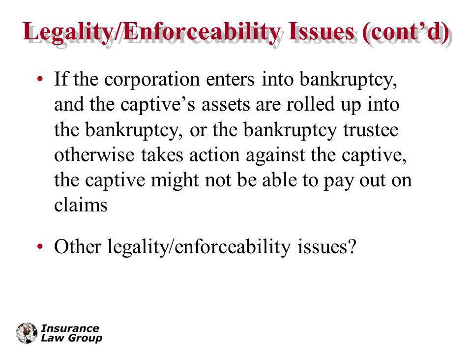 Legality/Enforceability Issues (cont'd)