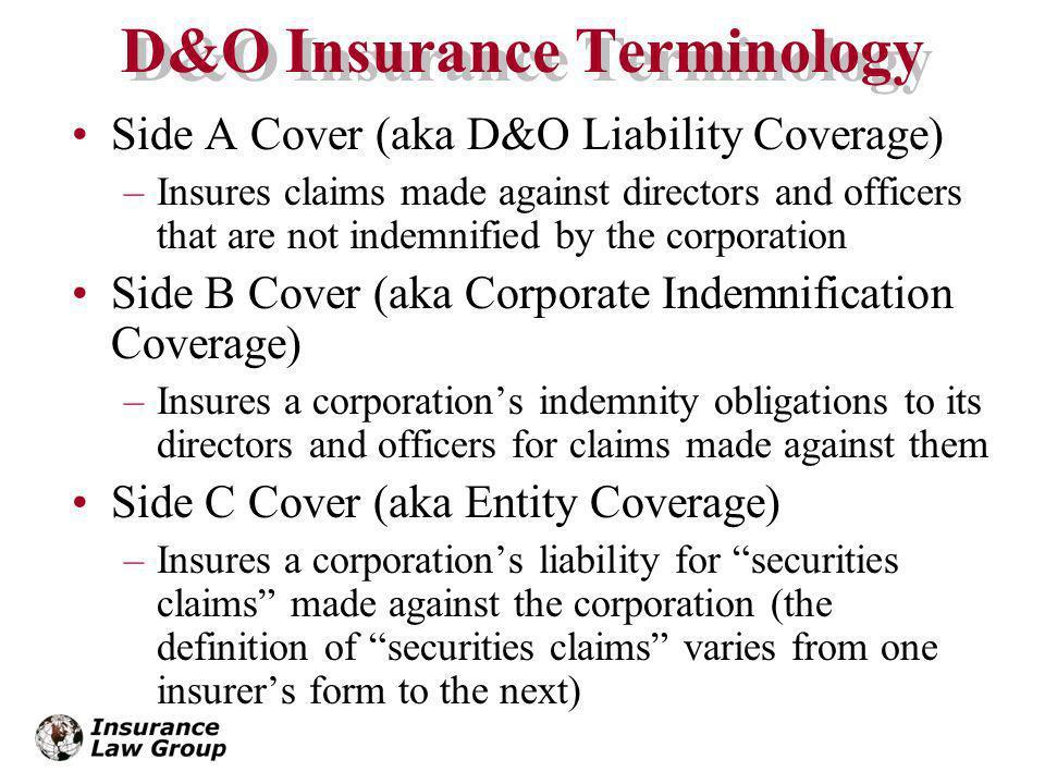 D&O Insurance Terminology