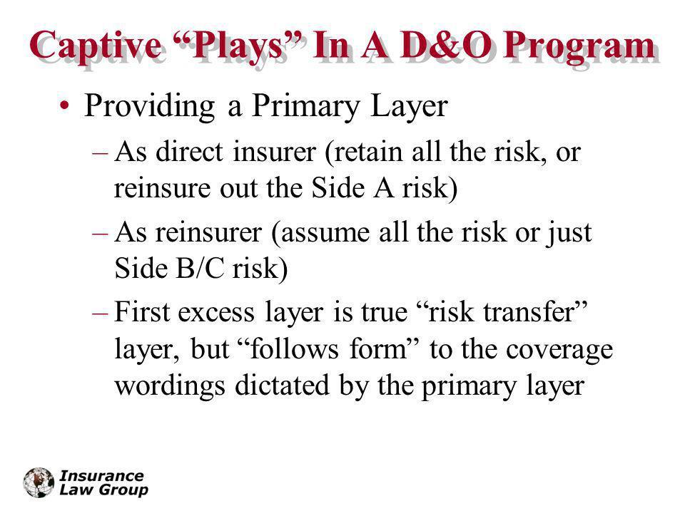 Captive Plays In A D&O Program