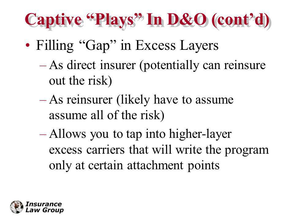 Captive Plays In D&O (cont'd)