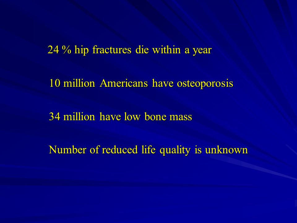 24 % hip fractures die within a year