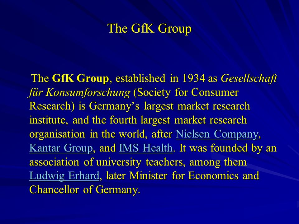 The GfK Group