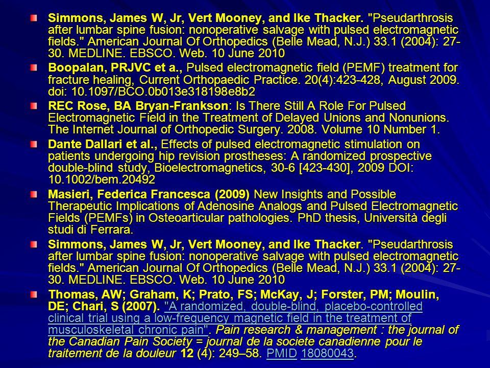 Simmons, James W, Jr, Vert Mooney, and Ike Thacker
