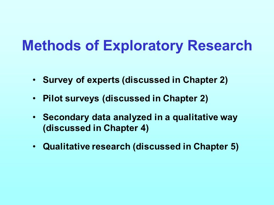 Different Methods of Exploratory Research Design