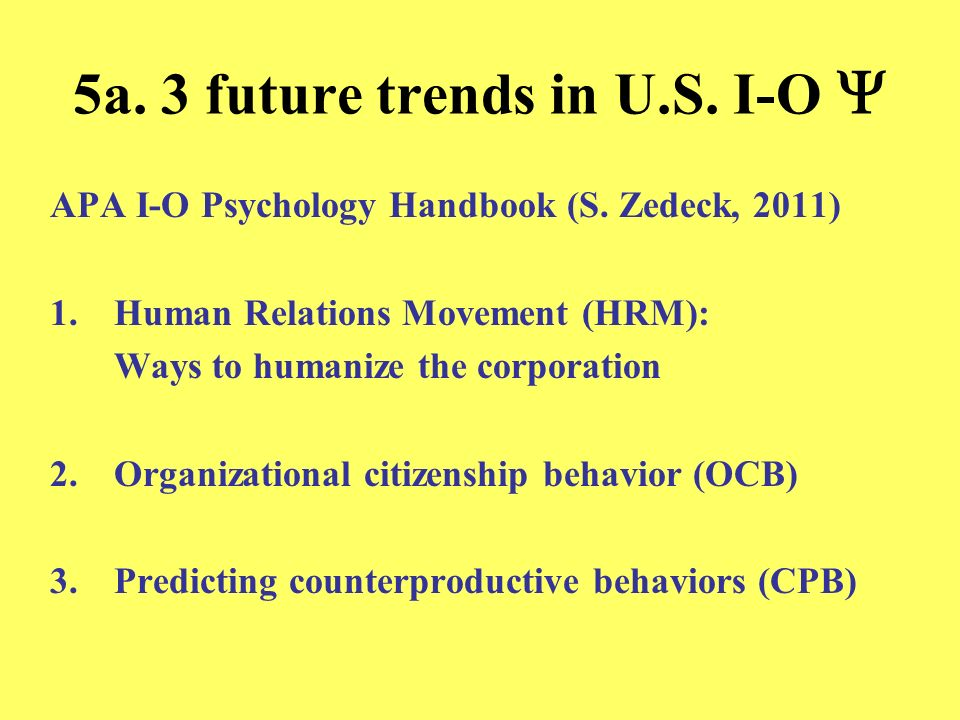 5a. 3 future trends in U.S. I-O Y