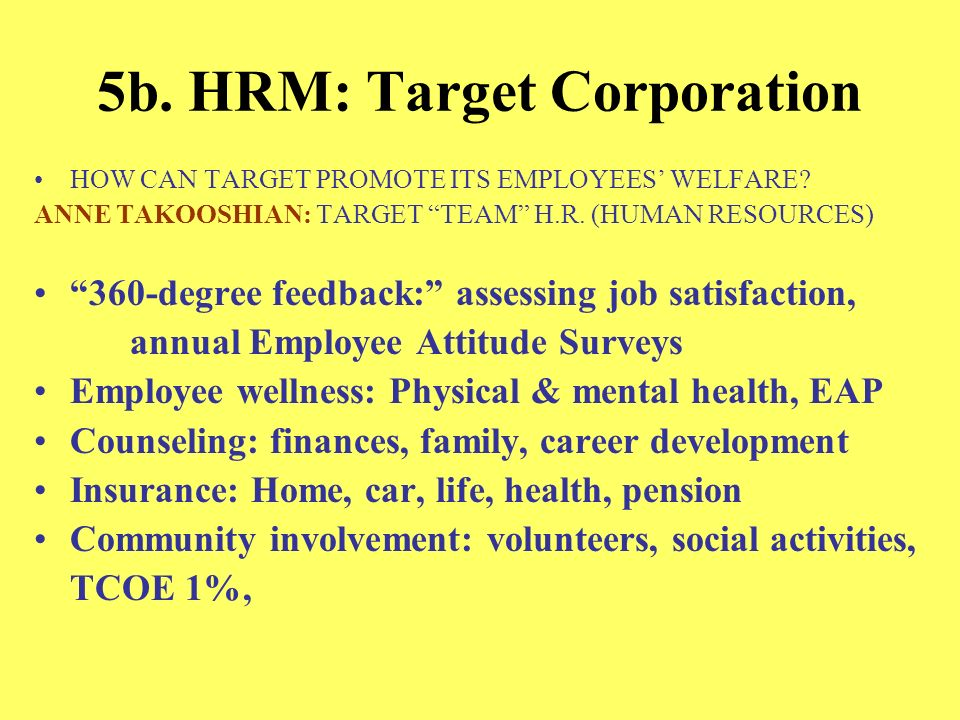 5b. HRM: Target Corporation