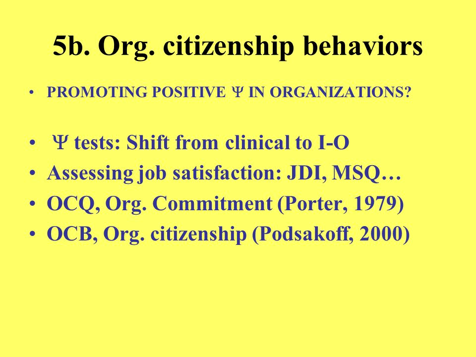 5b. Org. citizenship behaviors