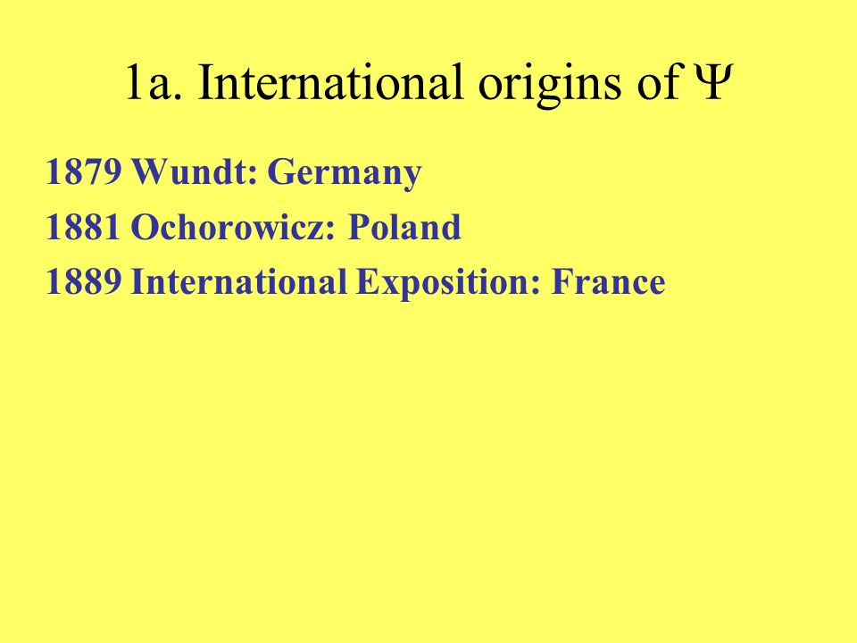 1a. International origins of Y