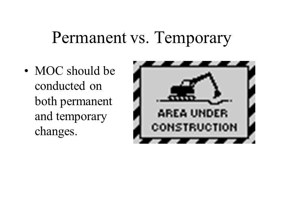 Permanent vs. Temporary