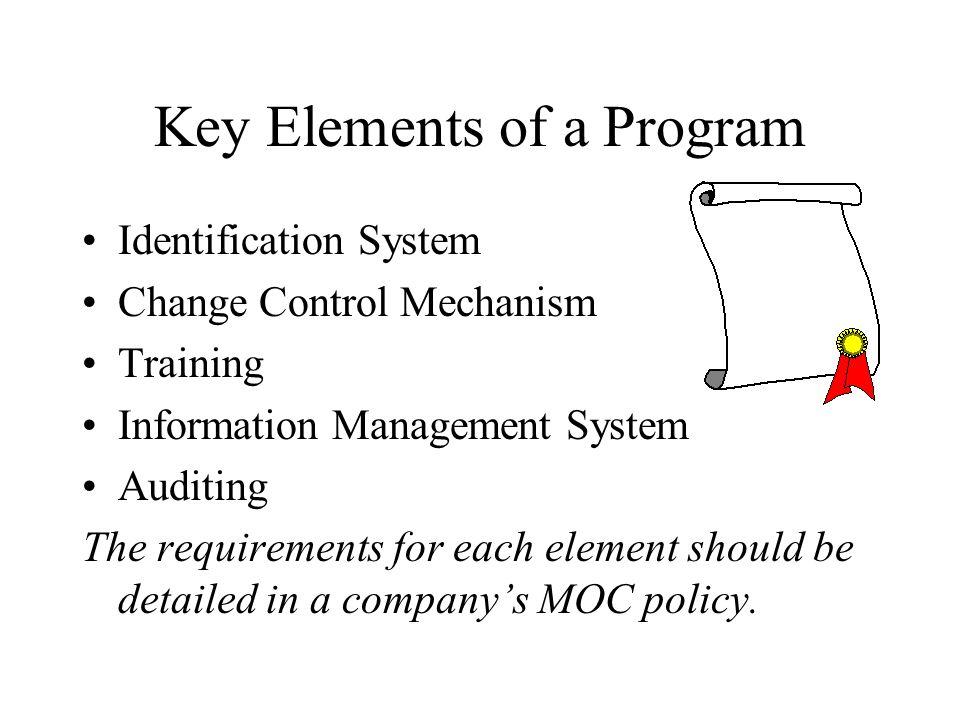 Key Elements of a Program