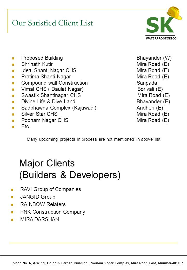 Our Satisfied Client List