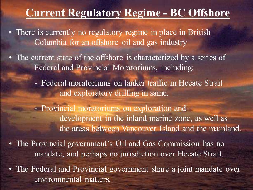 Current Regulatory Regime - BC Offshore