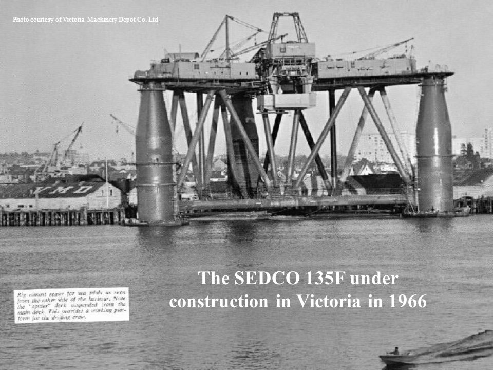 The SEDCO 135F under construction in Victoria in 1966
