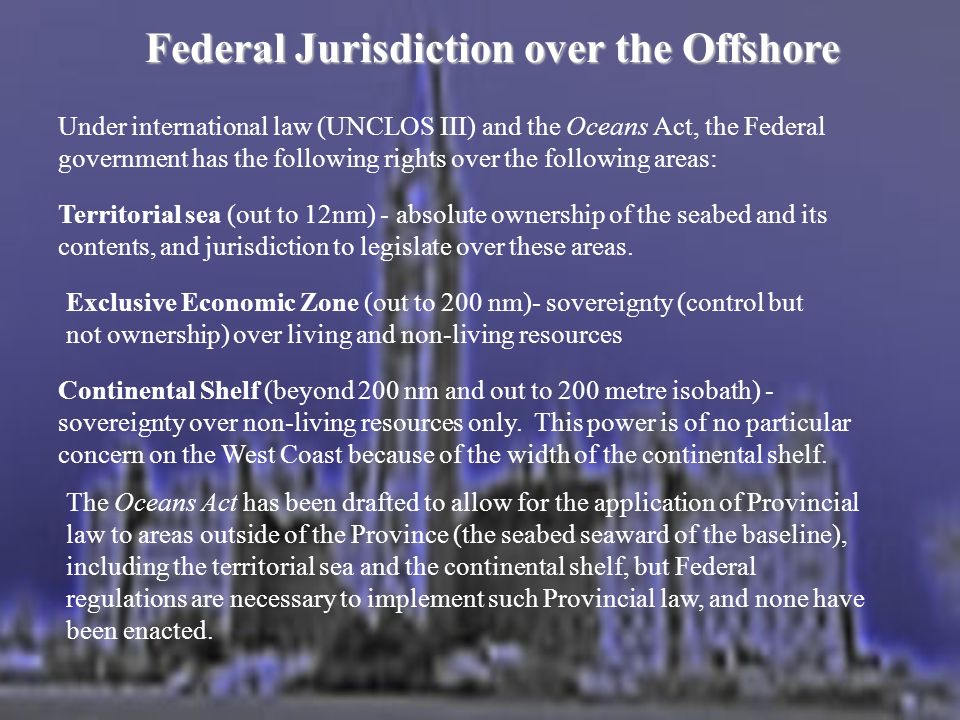 Federal Jurisdiction over the Offshore