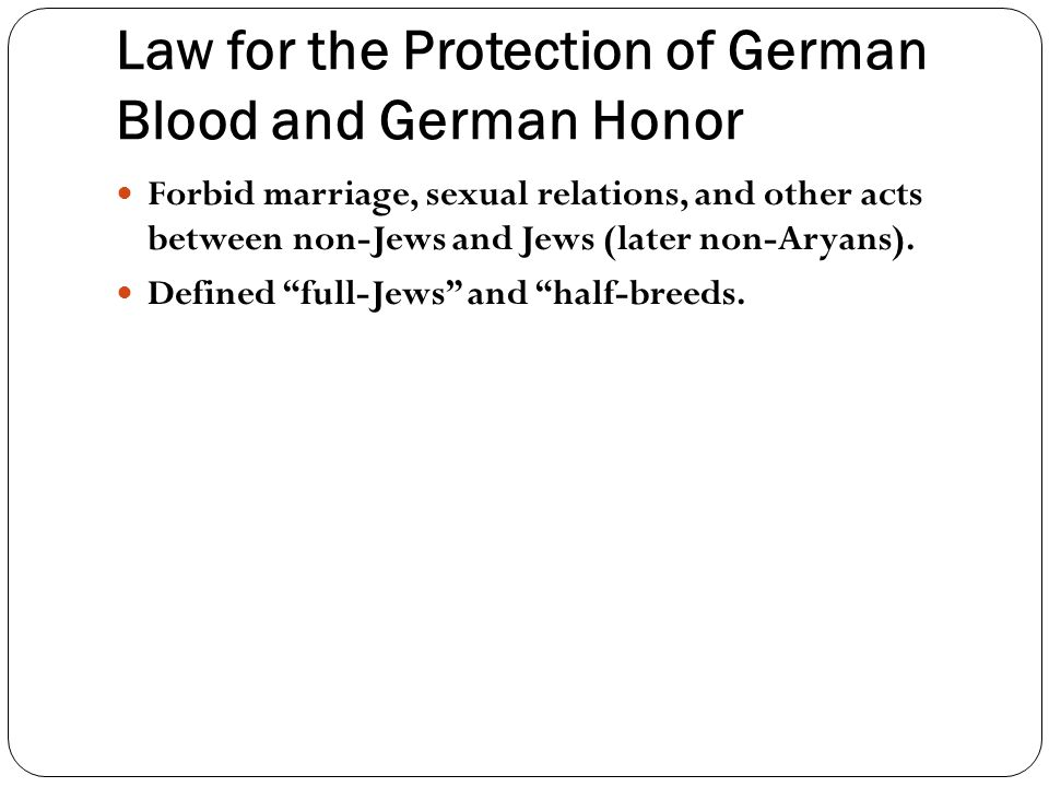 Law for the Protection of German Blood and German Honor