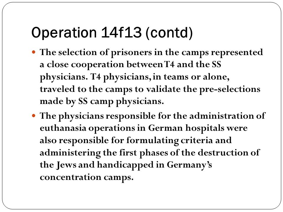 Operation 14f13 (contd)