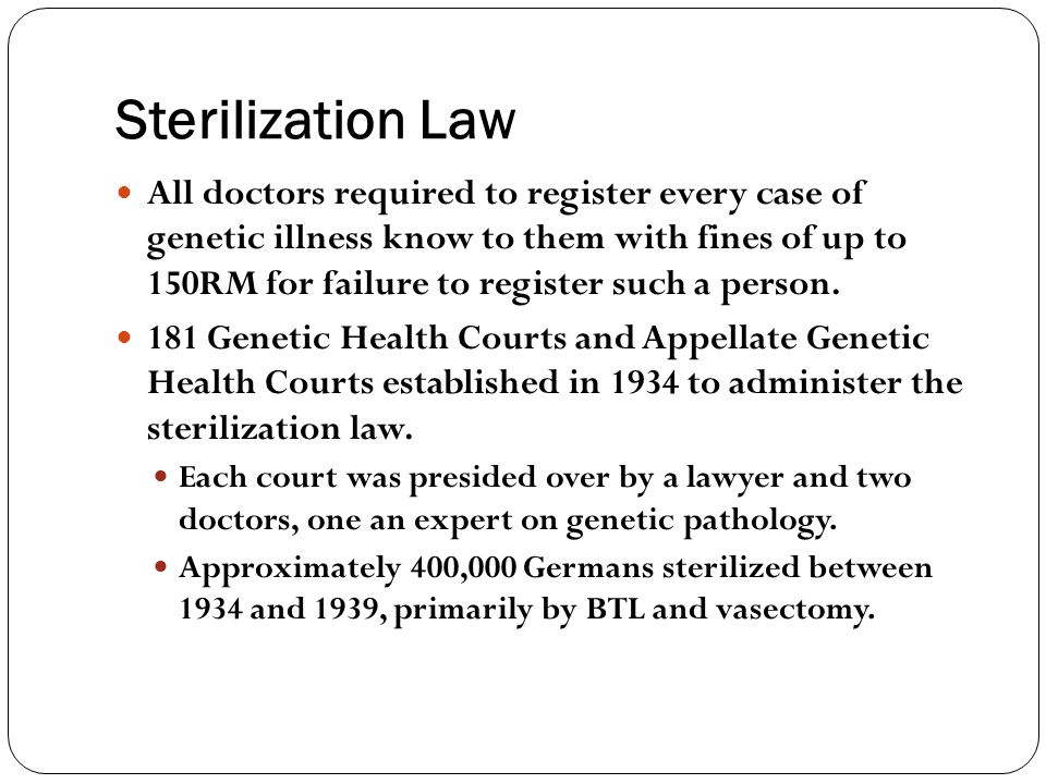 Sterilization Law