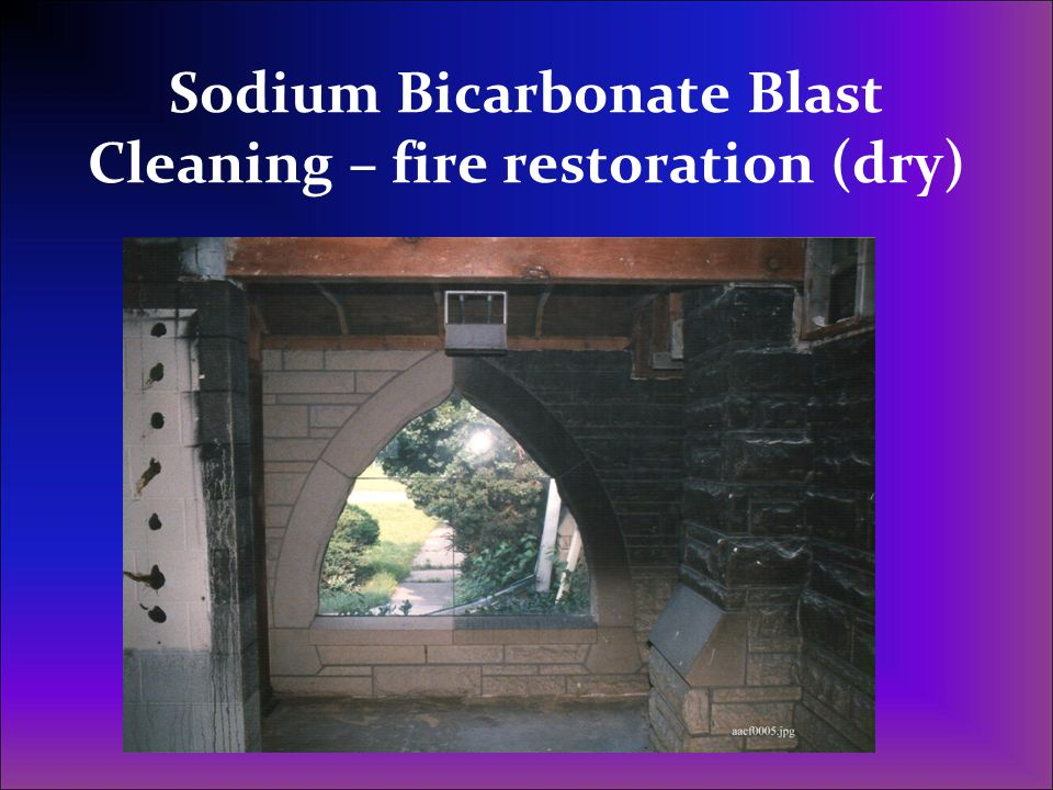 Sodium Bicarbonate Blast Cleaning – fire restoration (dry)