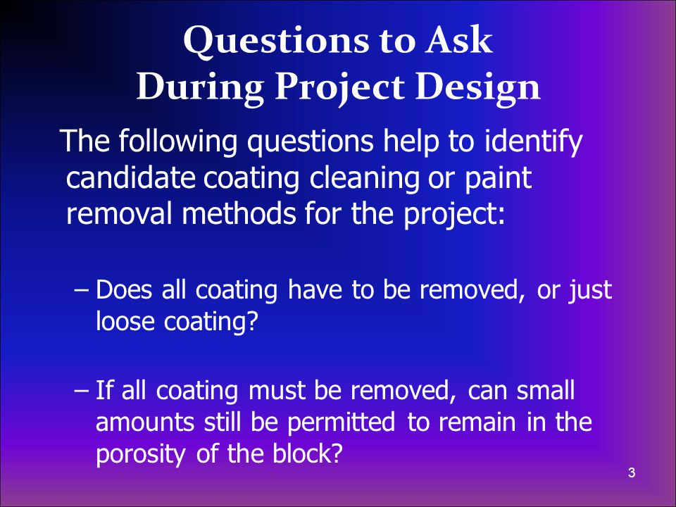 Questions to Ask During Project Design