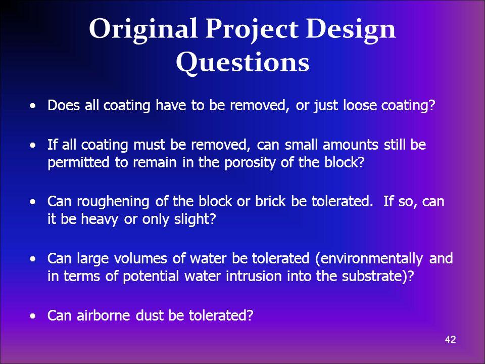 Original Project Design Questions