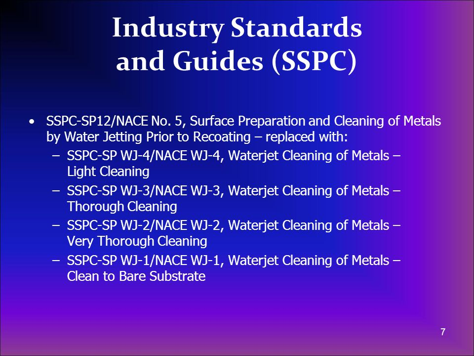 Industry Standards and Guides (SSPC)