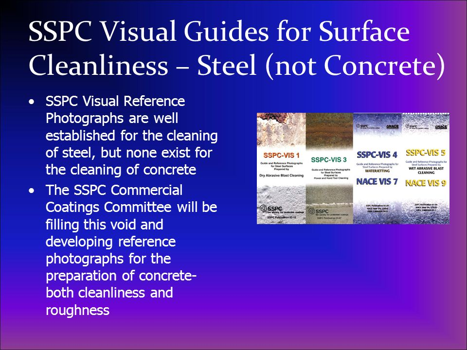 SSPC Visual Guides for Surface Cleanliness – Steel (not Concrete)
