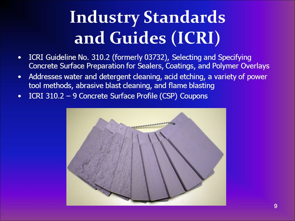 Industry Standards and Guides (ICRI)