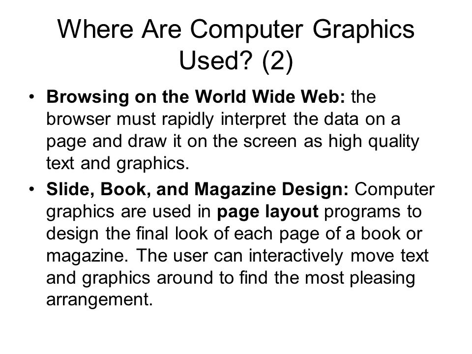 Where Are Computer Graphics Used (2)