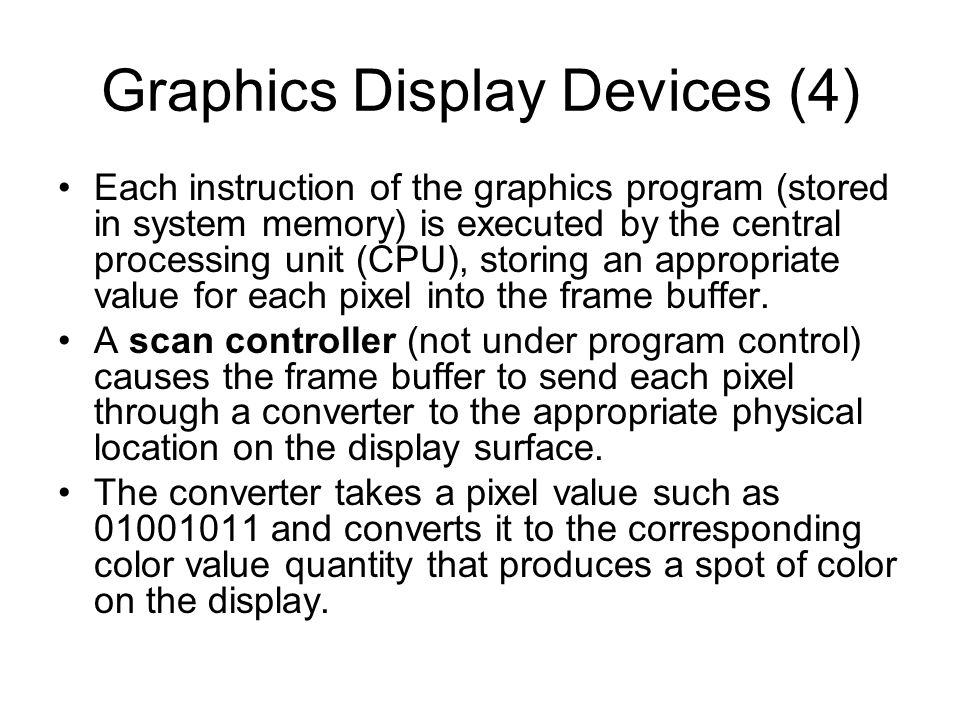 Graphics Display Devices (4)
