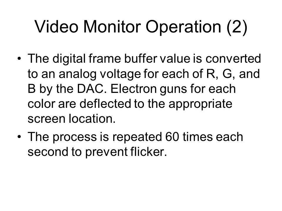 Video Monitor Operation (2)