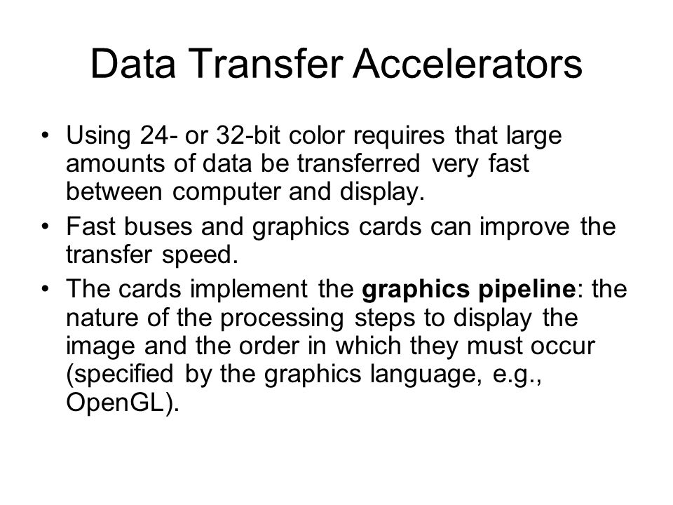 Data Transfer Accelerators