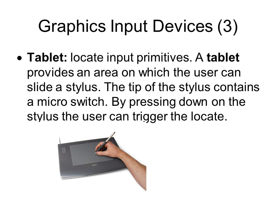 Graphics Input Devices (3)