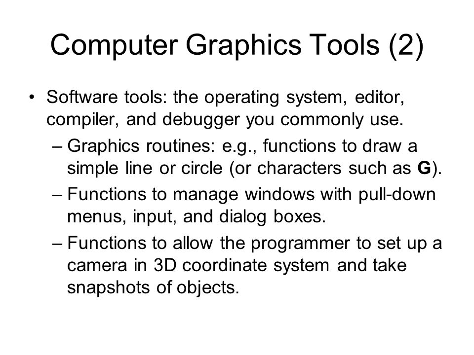 Computer Graphics Tools (2)
