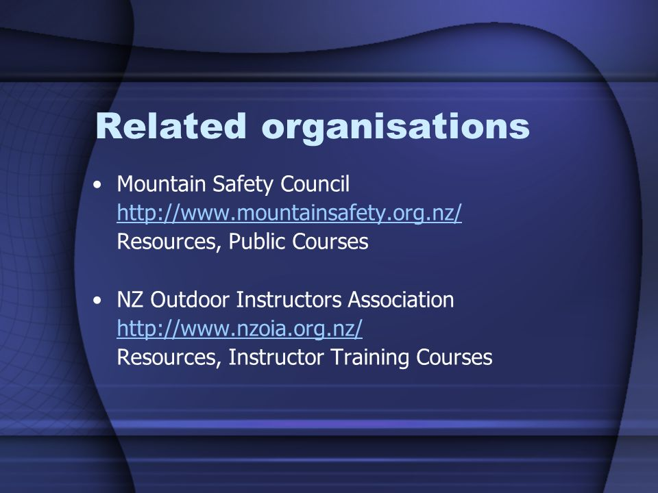 Related organisations
