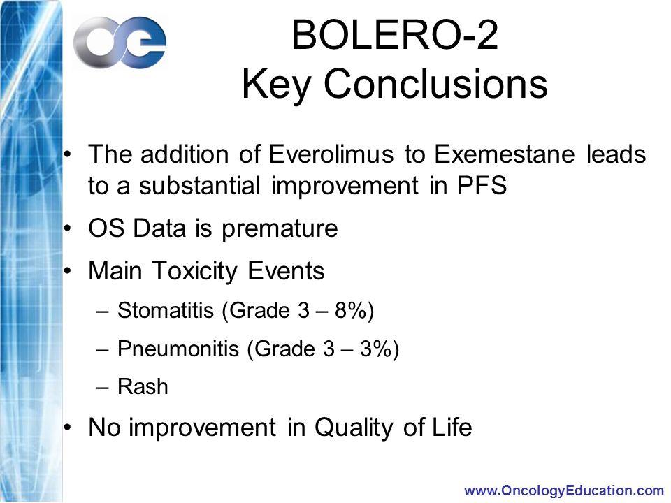 BOLERO-2 Key Conclusions