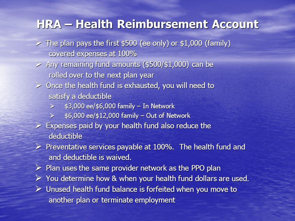 HRA – Health Reimbursement Account