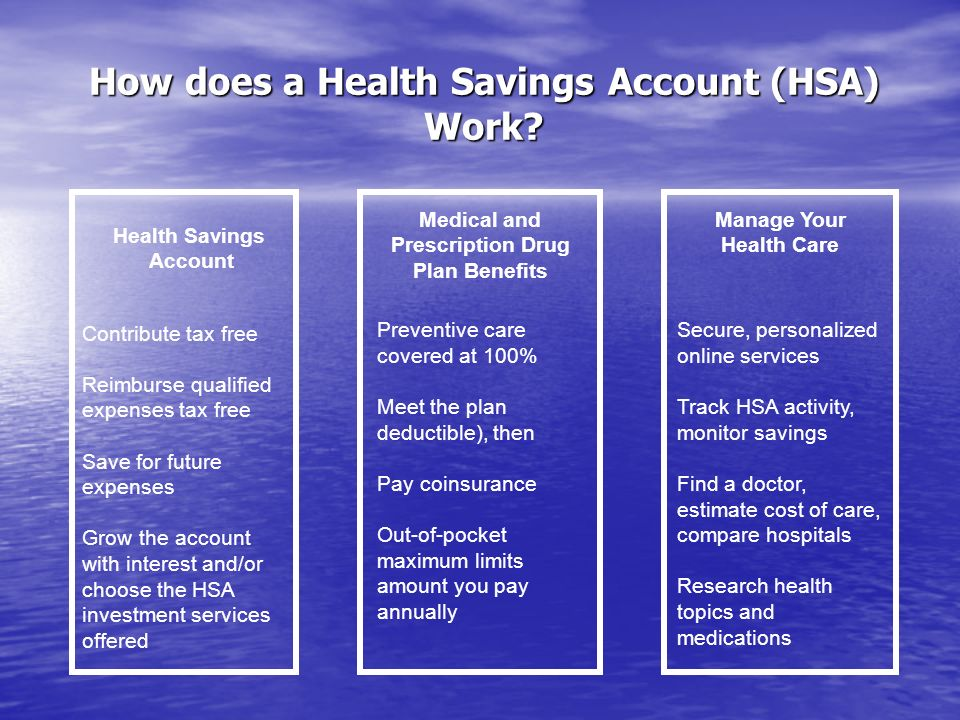 How does a Health Savings Account (HSA) Work
