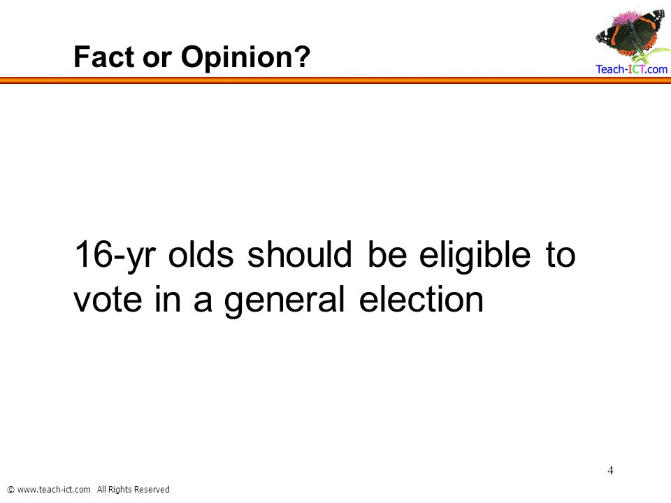 16-yr olds should be eligible to vote in a general election